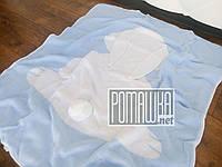 Вязаный с подкладкой детский плед одеяло 90*80 Зайка для новорожденных малышей детей в коляску 4953 Голубой