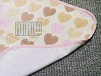 Влагонепроницаемая пеленка 70*50 детская для новорожденных детей младенцев двухсторонняя 4242 Розовый