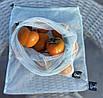 Экомешочки для продуктов многоразовые, мешочки из сетки для овощей и фруктов, размер L (30х35 см), фото 2