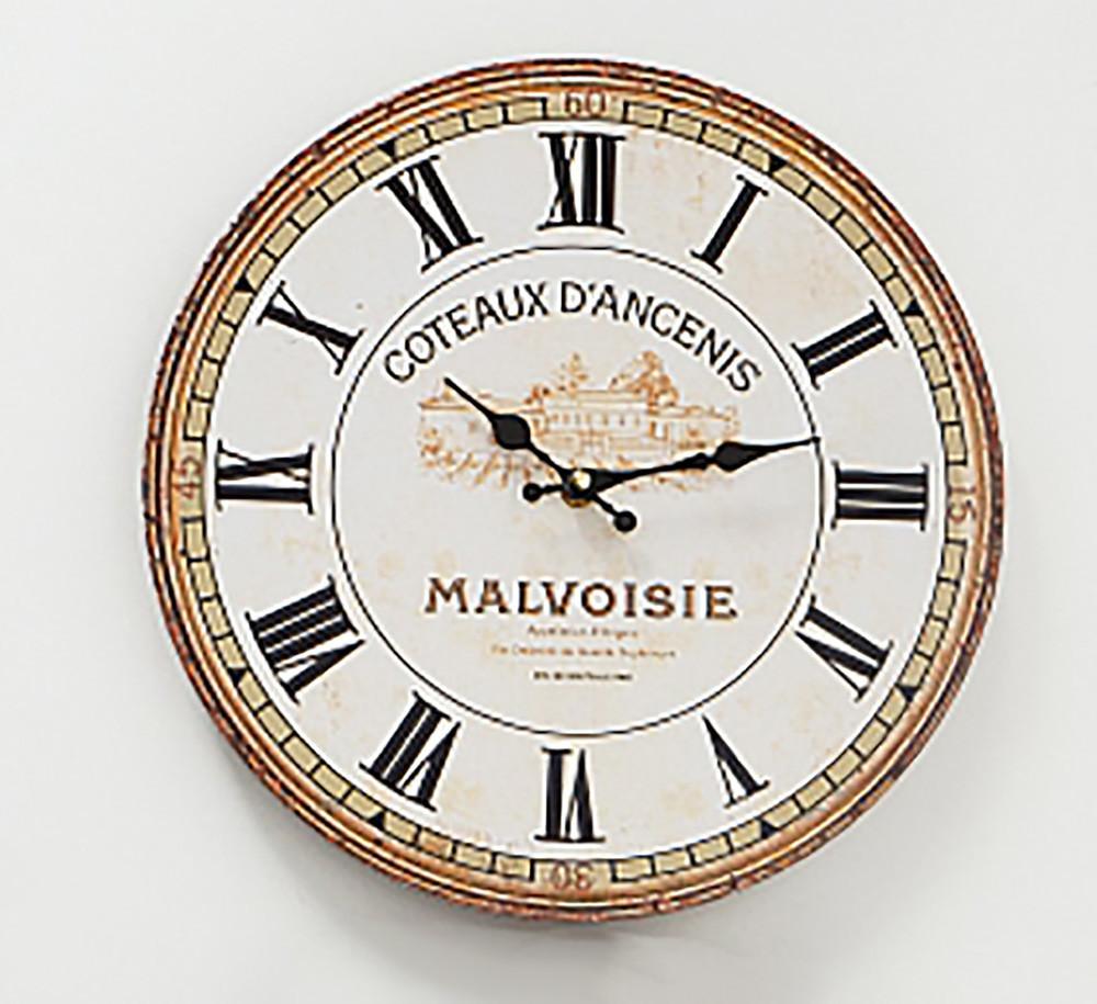 Настенные часы МДФ серый d34см Гранд Презент 1021690-1 ферма