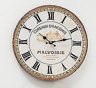 Настенные часы МДФ серый d34см Гранд Презент 1021690-1 ферма, фото 1