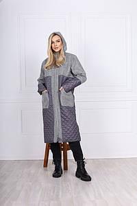 Женская длинная куртка пальто