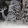 Олень новогодний светящийся светодиодный Led 58см, фото 4