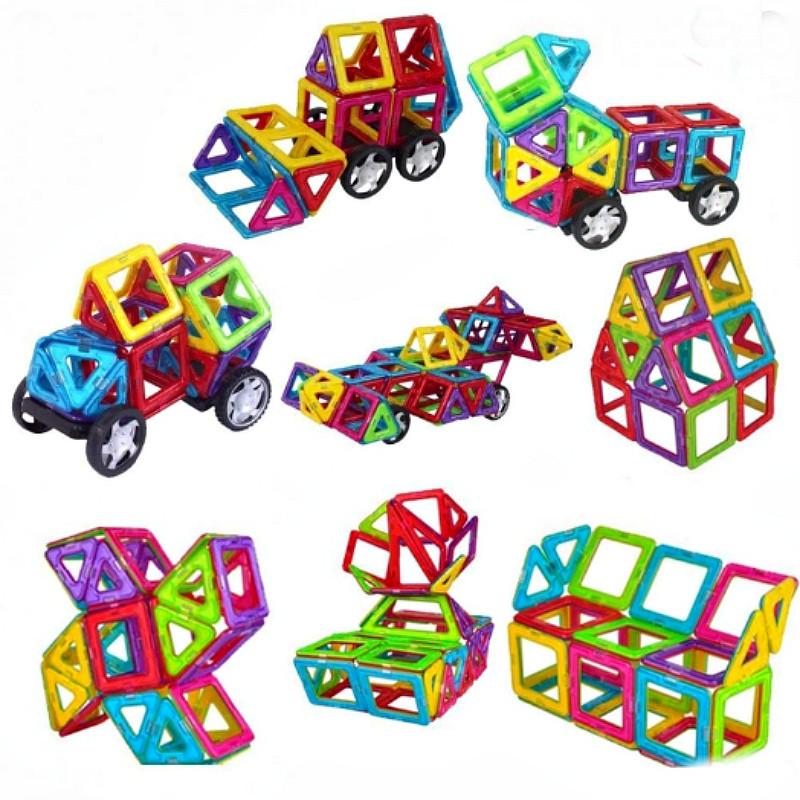 Магнитный конструктор,детский 3Д конструктор,конструктор  магнитный в чемодане 36 деталей