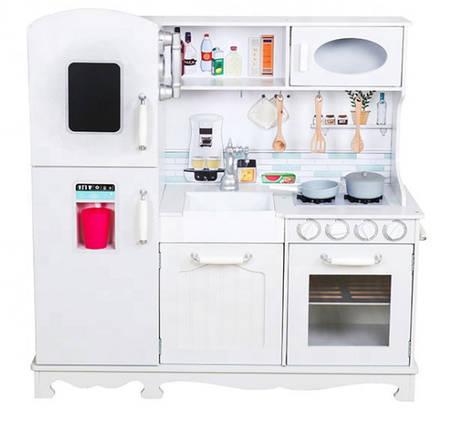 Детская деревянная кухня AVKO Диана C466 + посуда, фото 2