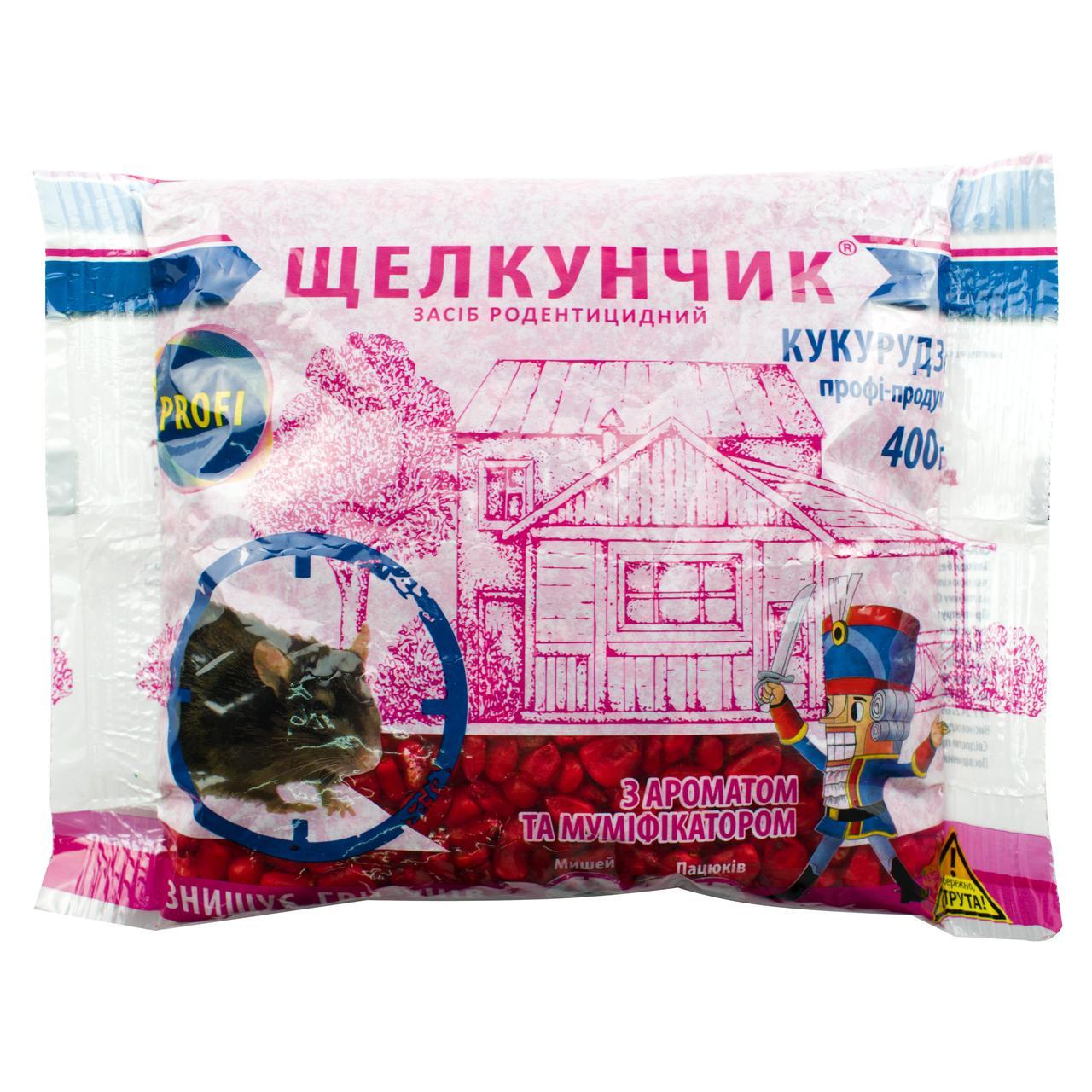 Кукуруза от крыс и мышей Щелкунчик профи-продукт 400 г