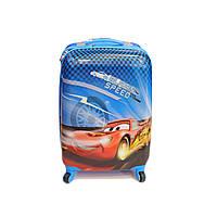 Детский чемодан дорожный Тачка Маквин малый (S) синий, фото 1