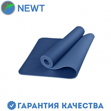 Коврик для фитнеса (йога-мат) с чехлом Newt TPE Eco 6 мм, синий