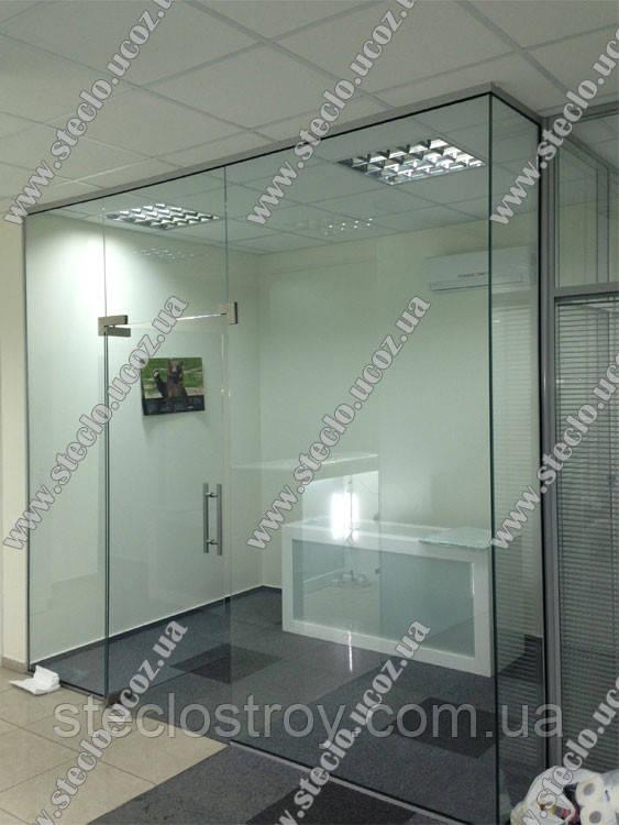 Стеклянные перегородки офисные  (прозрачные, матовые))