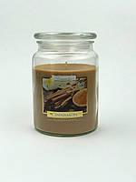 Свеча ароматизированная в стеклянном стакане с крышкой, Bispol / Cinnamon, 100 часов горения