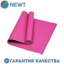 Йога-мат (коврик для йоги) с чехлом Newt PVC GR 5 мм, розовый
