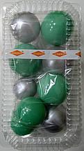 """Набір """"Кульки святкові (9шт) бірюзові/срібні"""""""
