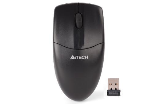 Мышь A4 G3-220N-1 беспроводная, 1000dpi, USB, чёрный
