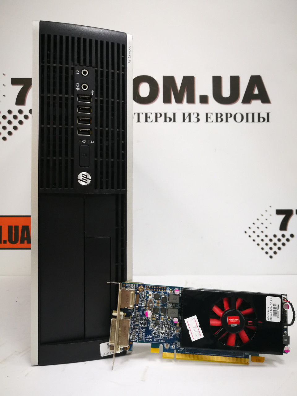 Компьютер HP SFF-DT, Intel Core i3-3220 3.3ГГц, ОЗУ 6ГБ, HDD 250ГБ, Radeon HD7570 1GB DDR5