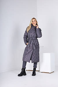 Женское пальто графит