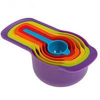 Набор мерных ложек Benson BN-1036 (6 штук) | мерная посуда | мерная емкость | мерная ложка, фото 1