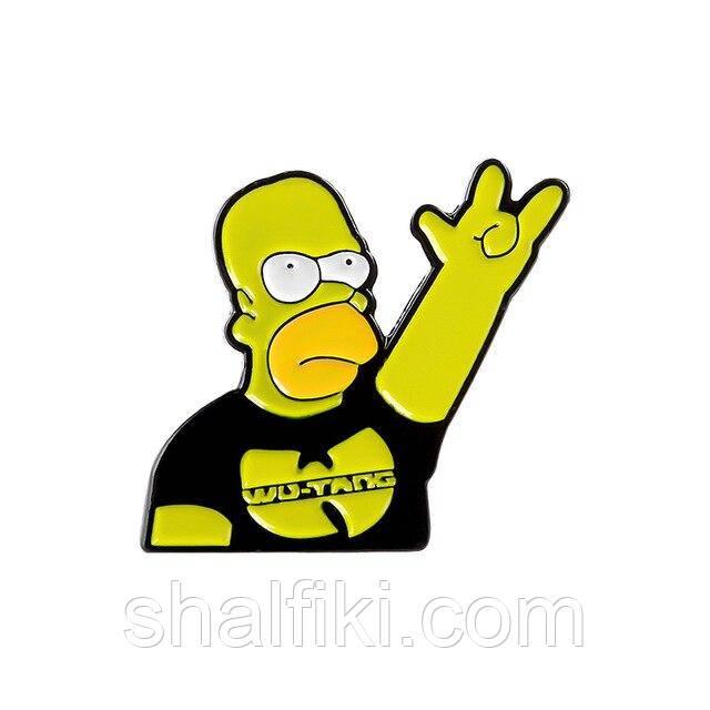 """Гомер Симпсон Wu-tang (Симпсоны)"" значок (пин) металлический"
