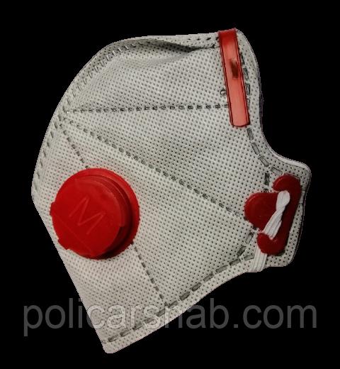 Респиратор, маска Микрон FFP3 с клапаном выдоха, маска ФФП3 с угольным фильтром