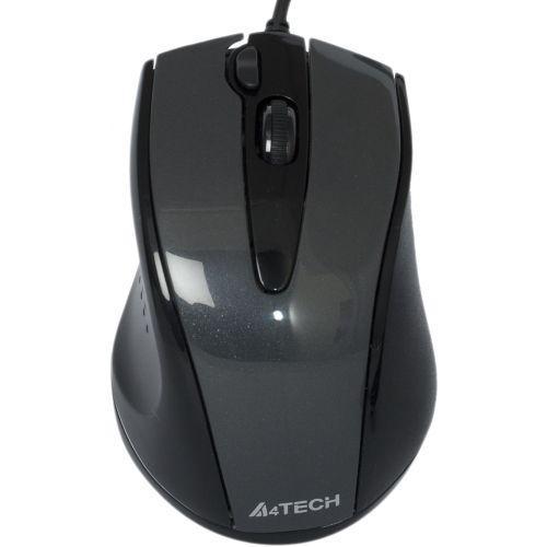 Мышь A4 N-500F, 1000dpi, USB, чёрный