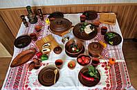 "Набор глиняной посуды на 6 персон №35 "" На природе "", фото 1"