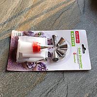 Кондитерский мешок с переходником и 6 стальными насадками, фото 1