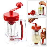 Универсальный ручной миксер для теста с диспенсером Pancake Machine | дозатор для выпечки, фото 1