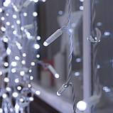 Гирлянда уличная Штора Alphatrade 3*3 м, 480 диодов, белый провод, цвет белый холодный, с мерцанием flash, фото 2