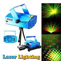 Лазерный проектор Диско LASER HJ09 2in1 | Mini Laser Stage Lighting с триногой, фото 1