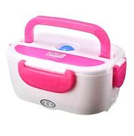 Электрический ланч-бокс с подогревом Benson BN-035 розовый | контейнер для еды Бенсон | ланчбокс Бэнсон, фото 1