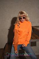 Женский яркий вязанный свитер Oversize, фото 1