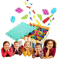"Дитячий розвиваючий конструктор іграшка Tu Le Hui ""Diy Light Puzzle"" на шурупах 200 деталей"