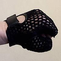Шкіряні автомобільні рукавички без пальців AL3003 з плетеним верхом, фото 1