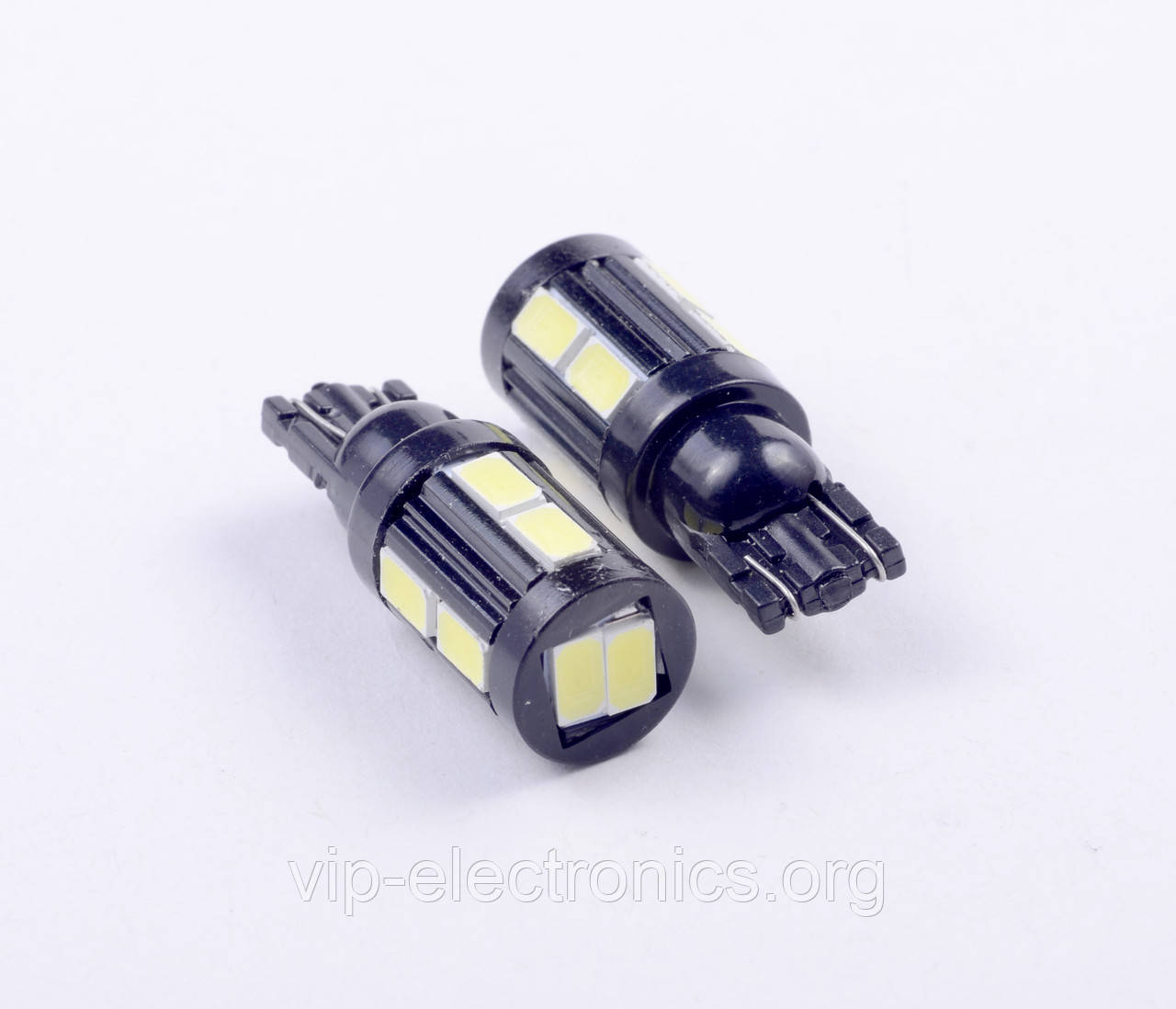 Світлодіодна автолампа для цоколя T10-5630-10SMD лінза,корпус-алюм