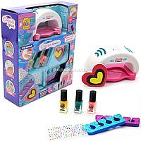 Набор для маникюра детский FUN GAME «Студия красоты» детская косметика (сушка для ногтей, лак, декор) 95965