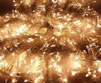 Гирлянда 100LED 10м (контрол.220V) (БП) Тёплый, Новогодняя бахрама, Светодиодная гирлянда, Уличная гирлянда, фото 1
