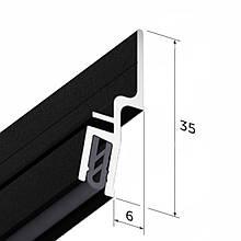 Профіль алюмінієвий для натяжних стель - профіль EUROSLOTT стіновий для тканини