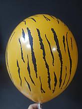 """Латексна кулька принт Тигр оранжевий 007 12"""" 30см Belbal ТМ """"Star"""""""
