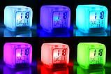 Светящиеся часы будильник термометр ночник хамелеон, фото 2