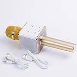 Беспроводной Караоке Микрофон Bluetooth Q7 в ЧЕХЛЕ, фото 4