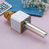 Беспроводной Караоке Микрофон Bluetooth Q7 в ЧЕХЛЕ, фото 6