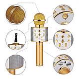 Портативный микрофон -караоке с динамиком Wster WS, фото 3