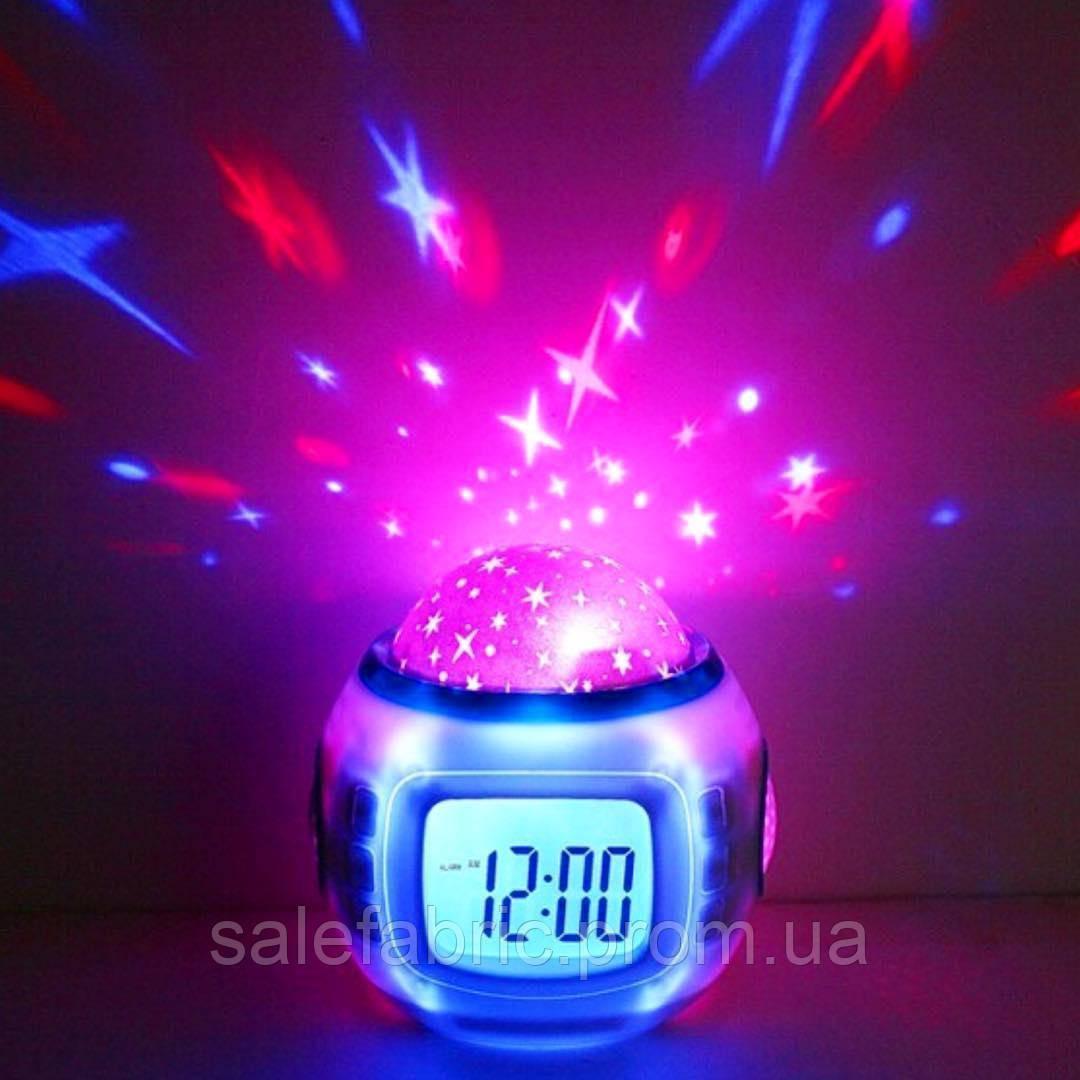 Настольные часы - проектор Звездного неба  Music and Starry Sky calendar