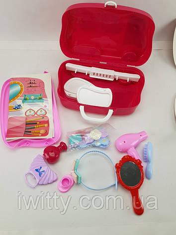 Набор для макияжа детский с выдвижным чемоданчиком, фото 2