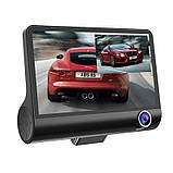 """Автомобильный видеорегистратор на 3 камеры Recorder 4 """"HD 1080P, фото 5"""