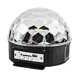 MP3 Диско-шар проектор LED Crystal Magic Ball Light  колонка БЕЗ БЛЮТУЗ, фото 2