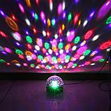 MP3 Диско-шар проектор LED Crystal Magic Ball Light  колонка БЕЗ БЛЮТУЗ, фото 4