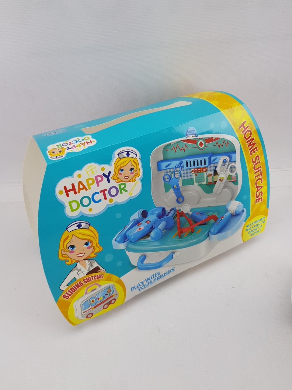 Ігровий набір Доктор (Синій) Валіза на колесах