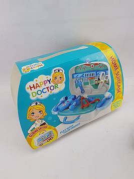 Игровой набор Доктор (Синий) Чемоданчик на колёсах