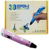 3Д ручка с LCD дисплеем Smart 3D pen-2 розовая, фото 5
