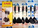 Кухонный набор A Plus из 7 предметов с антипригарным покрытием. Лопатки для кухни, фото 3